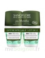 Sanoflore Déodorant 48h Mentha 2roll-on/50ml à Saint-Chef
