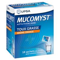 MUCOMYST 200 mg Poudre pour solution buvable en sachet B/18 à Saint-Chef