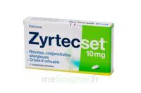 ZYRTECSET 10 mg, comprimé pelliculé sécable à Saint-Chef