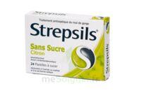 STREPSILS CITRON SANS SUCRE, pastille édulcorée à l'isomalt, au maltitol et à la saccharine sodique à Saint-Chef