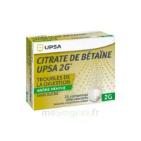 Citrate de Bétaïne UPSA 2 g Comprimés effervescents sans sucre menthe édulcoré à la saccharine sodique T/20 à Saint-Chef