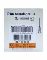 BD MICROLANCE 3, G25 5/8, 0,5 mm x 16 mm, orange  à Saint-Chef