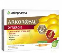 Arkoroyal Dynergie Ginseng Gelée Royale Propolis Solution Buvable 20 Ampoules/10ml à Saint-Chef