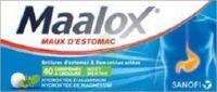 MAALOX HYDROXYDE D'ALUMINIUM/HYDROXYDE DE MAGNESIUM 400 mg/400 mg Cpr à croquer maux d'estomac Plq/40 à Saint-Chef