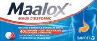 MAALOX MAUX D'ESTOMAC HYDROXYDE D'ALUMINIUM/HYDROXYDE DE MAGNESIUM 400 mg/400 mg SANS SUCRE FRUITS ROUGES, comprimé à croquer édulcoré à la saccharine sodique, au sorbitol et au maltitol à Saint-Chef