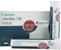 Calcium Vitamine D3 Teva 500 Mg/400 Ui, Comprimé à Sucer Ou à Croquer à Saint-Chef