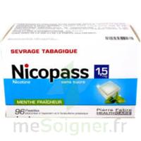 Nicopass 1,5 Mg Pastille Sans Sucre Menthe Fraîcheur Plq/96 à Saint-Chef