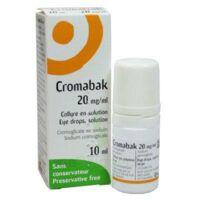 CROMABAK 20 mg/ml, collyre en solution à Saint-Chef