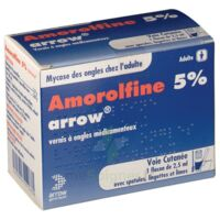 Amorolfine Arrow 5 % V Ongles Médicamenteux 1fl/2,5ml+30spat à Saint-Chef