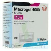 MACROGOL 4000 MYLAN 10 g, poudre pour solution buvable en sachet-dose à Saint-Chef