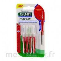 GUM TRAV - LER, 0,8 mm, manche rouge , blister 4 à Saint-Chef