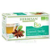 Herbesan Infusion Bio Tisane Transit Facile 20 Sachets à Saint-Chef