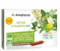 Arkofluide Bio Ultraextract Solution buvable détox 9 Plantes 20 Ampoules/10ml à Saint-Chef