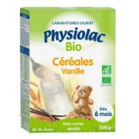 Physiolac Céréales Vanille Bio B/200g à Saint-Chef